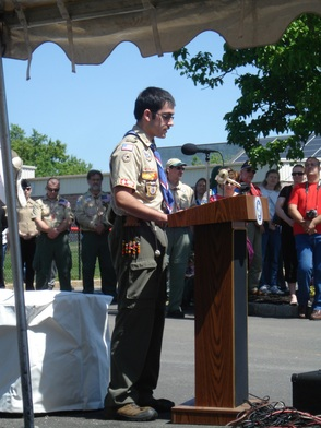 Eagle Scout Michael Bell Delivering the Gettysburg Addres