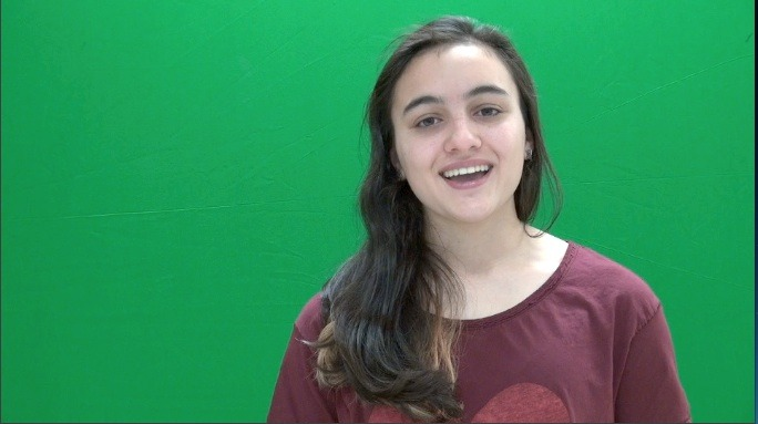 Green Screens at LCJSMS Enhance Students' Video Creations