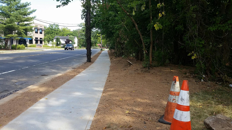 New Providence Installing New Sidewalks