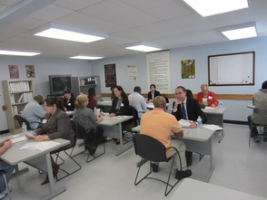 Spencer Savings Bank Conducts Mock Job Fair at Eva's Village  , photo 1