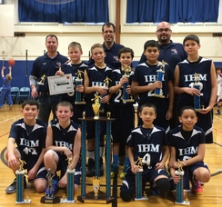 IHM 5th Grade Boys Win Holiday Basketball Tournament , photo 1