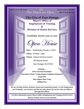 E.O. Division of Senior Service and Division of Employment & Training Open House, photo 1
