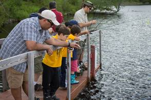Cub Scout fishing derby