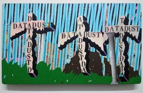 "Becky Brown, ""Data, Dust"", 2013, Mixed media on wood"