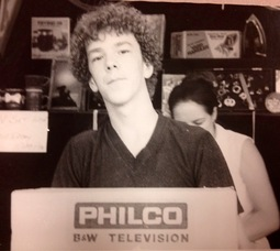 An unidentified winner of a black-and-white TV in the 1970s at the St. Bart's Festival