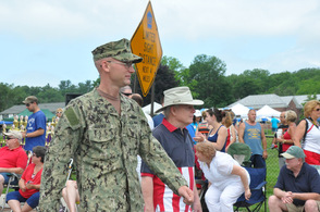 One of the veterans from the county returned to a warm welcome.