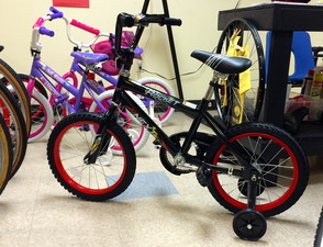 Bikes with training wheels also available