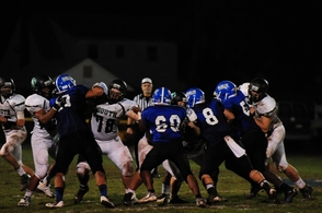 Sam Persad & Tiger Offensive Line in Pass Protection