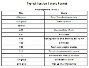 Competitive Schedule