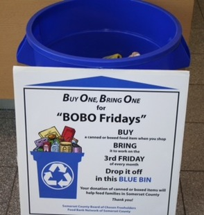 BOBO Fridays collection bin