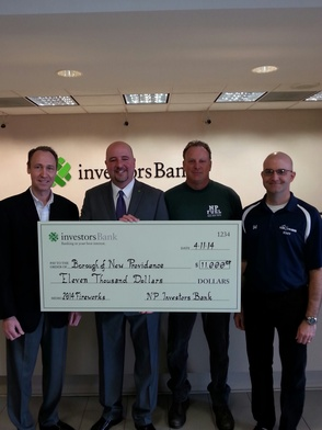Fireworks on for New Providence Independence Day Celebration:  Investors Bank Donates $11,000, photo 1