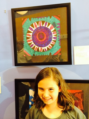 Jordana Goldstein and her mandala