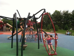 Kids playing at Ponderosa Park