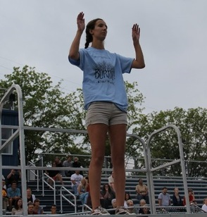 Katie Scaglione, One of Three Drum Major