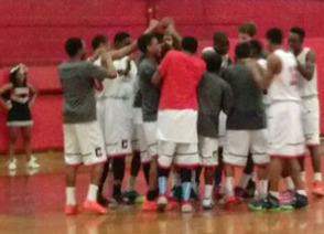 Cougars huddle