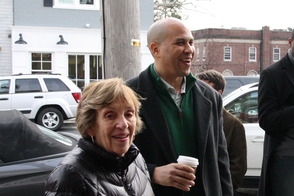 Cory Booker and Sandy Haimoff