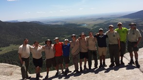 Eight Boy Scouts Hiked 75 Miles