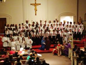 The 4th- Through 8th-Grade Students Perform in the Aquinas Academy Christmas Concert