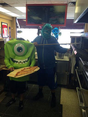 Monsters at Nick's Pizza