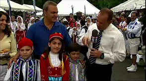 Fox 5's Nick Gregory at NJ Greek Fest