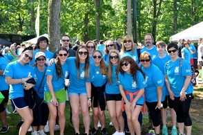 Hanna Anderson and Her Valerie Fund Walk-a-Thon Team