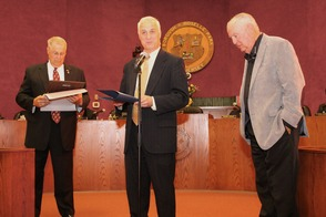 Roselle Park Honors Former Graduate with Key to the City, photo 2