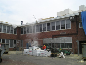 Westfield School Roof Work Progressing, photo 1