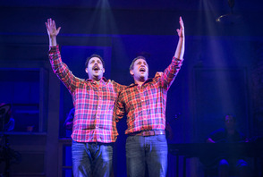The Other Josh Cohen at Paper Mill Playhouse; From left to right: From left to right: Steve Rosen, David Rossmer, and Vadim Feichtner.
