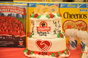 Cake to celebrate the Partners In Caring contest for the Byram store.