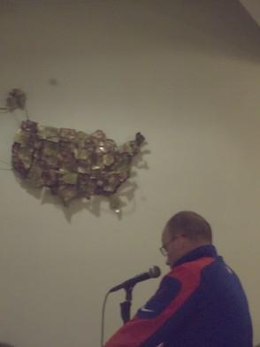 Greg Kasko on the mic