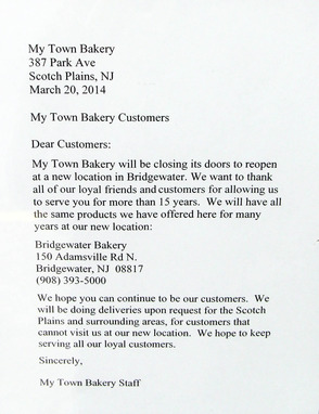 Farewell Letter to Customers