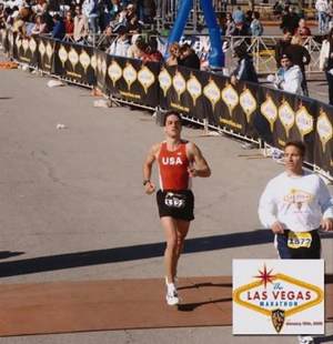 Ilan Altman and Michael Borbone Crossing the Finish Line
