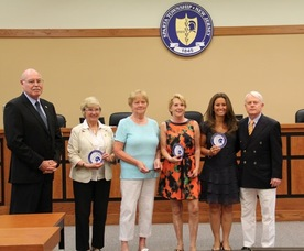 Gudrun Rank, Helena Bould, Karin Meyer, Edda Kramm and Judy Beelaert were all given Patriot Awards