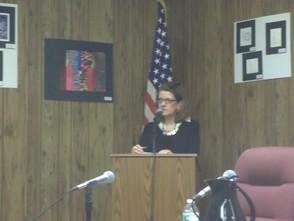 Maureen Mazzarese giving a presentation