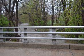 The Stony Brook at Greenbrook Road Still Roaring but Lower