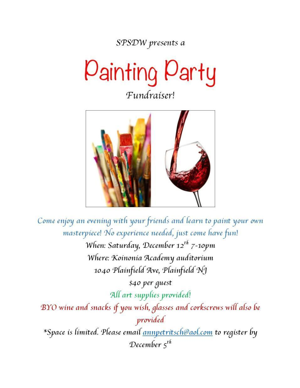 Painting Party Fundraiser for Summer Drama Workshop ...