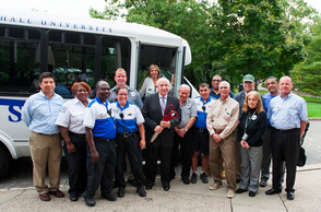 Seton Hall University Holds Ribbon-Cutting Ceremony for SafeRide Shuttle, photo 2