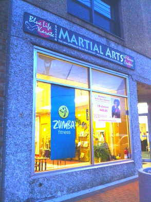 Blue Life Karate where Dionne Scott teaches zumba classes twice a week
