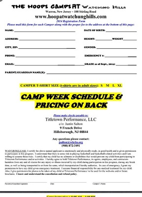 Registration Is Still Open For The Hoops Camp At Watchung Hills, photo 2