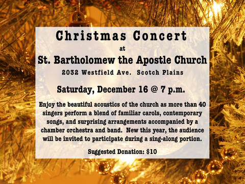 Saint Barts Annual Christmas Singing Of Christmas Carols 2020 St. Bart's Christmas Concert on Saturday, Dec. 16 | TAPinto