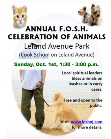 Fosh 18th Annual Blessing Of The Animals To Be Held On Oct 1 Plainfield Nj News Tapinto
