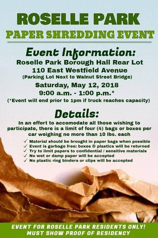 Roselle Park To Hold Paper Shredding Event News Tapinto