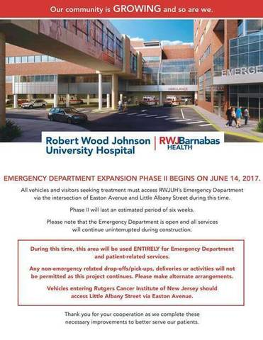 Robert Wood Johnson Emergency Room New Brunswick Nj