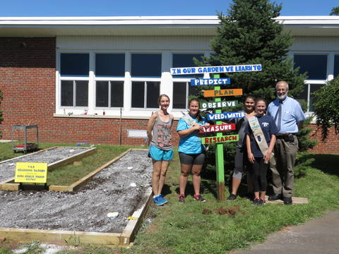 Clark Girl Scouts Earn Award Creating 39 Learning Garden 39 For Valley Road News Tapinto