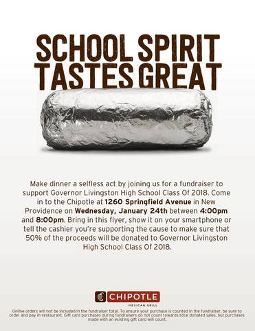Gov Livingston Class Of 2018 Fundraiser At Chipotle Jan