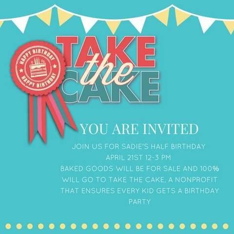 Half birthday bake sale for take the cake tapinto filmwisefo Images