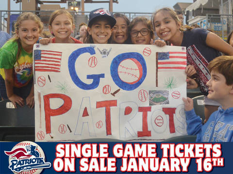 Somerset Patriots 2018 Single Game Tickets Go On Sale On