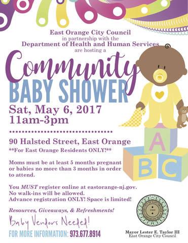east orange community baby shower news tapinto