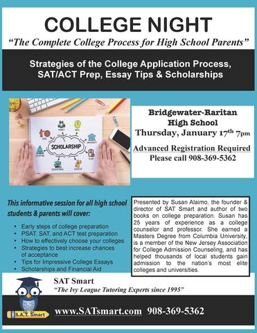 college night at bridgewaterraritan high school  tapinto