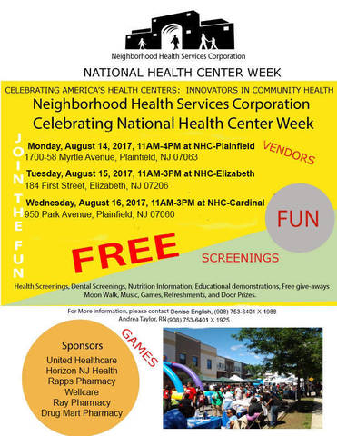 Celebrate National Health Center Week in Plainfield and